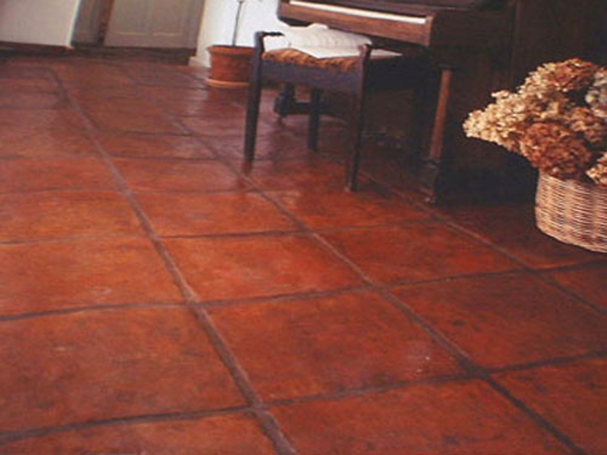 Terracotta floor tiles wellington tile warehouse handmade teatree terracotta 34cm x 34cm dailygadgetfo Images